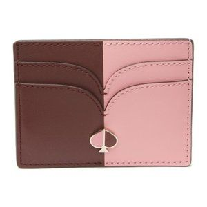 KATE SPADE Nicola Bicolor Pink Leather Card Holder